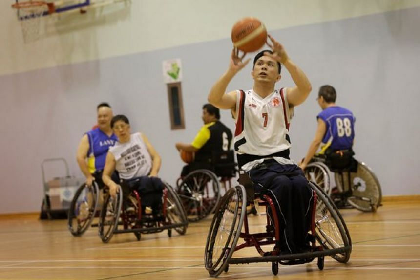 Singapore captain Choo Poh Choon (pictured) delivered a double-double with 14 points and 13 rebounds.