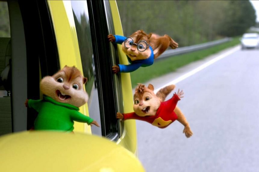 Alvin and the chipmunks in The Road Chip.