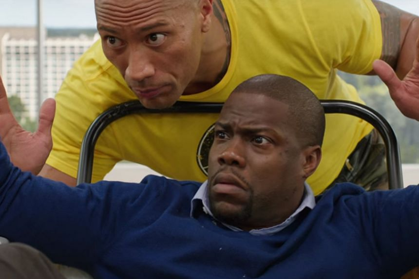 """Dwayne """"The Rock"""" Johnson (top) and Kevin Hart (below)."""