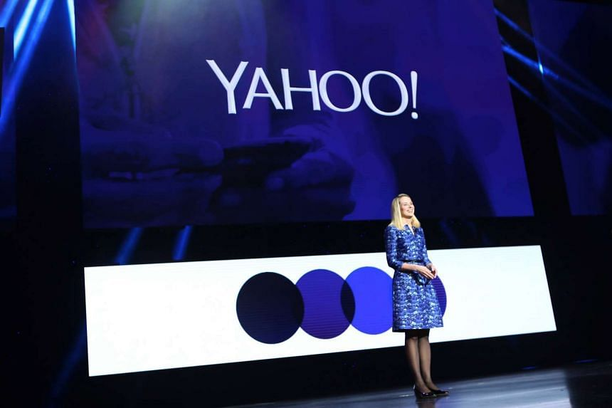 A file picture of Yahoo CEO Marissa Mayer speaking during her keynote address at the annual Consumer Electronics Show (CES) in Las Vegas, Nevada in 2014. Yahoo Inc is weighing a sale of its core business and will not sell its stake in Alibaba Group H