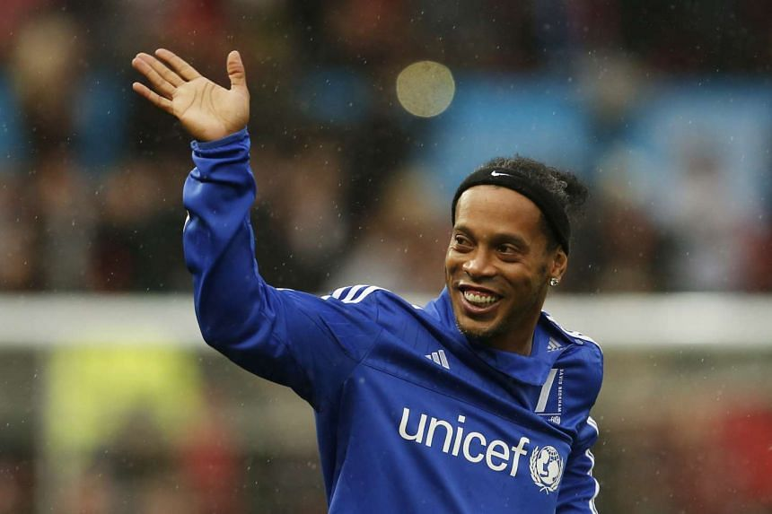 Brazilian star Ronaldinho will be in town for two days.