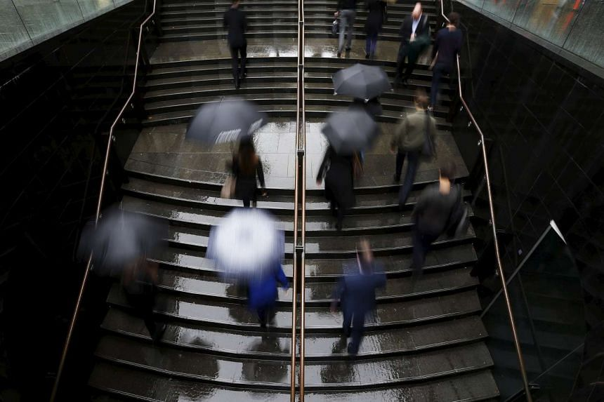 Commuters at Sydney's CBD in this June 28, 2013, file photo.