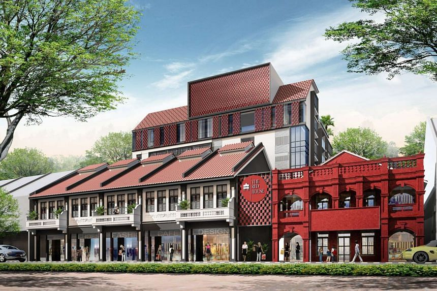 Artist impression of the Red House, a new residential-retail-lifestyle heritage development located in Katong.