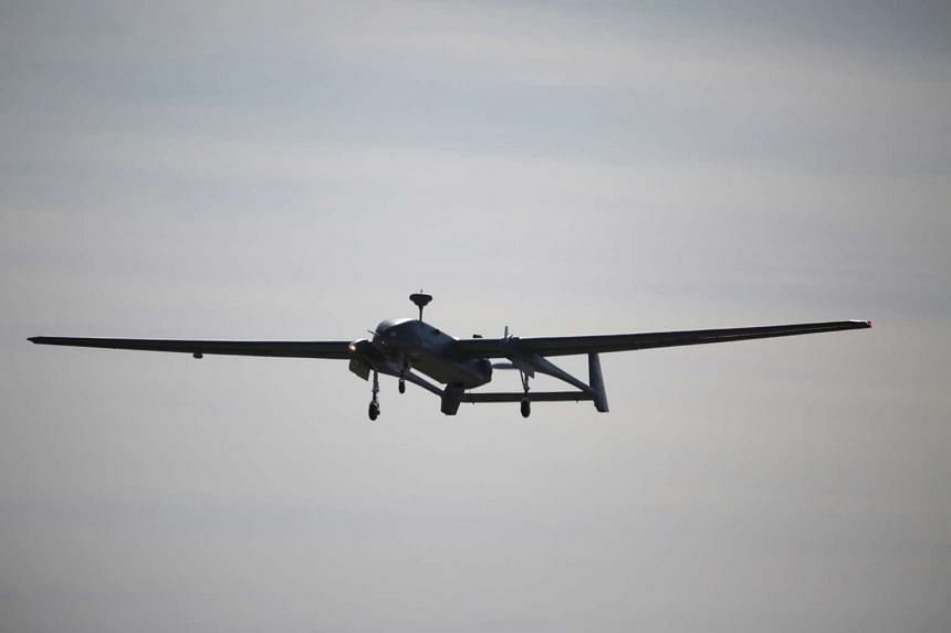 The Heron 1 UAV will be among the 33 aircraft that will be put through their paces in Exercise Forging Sabre.