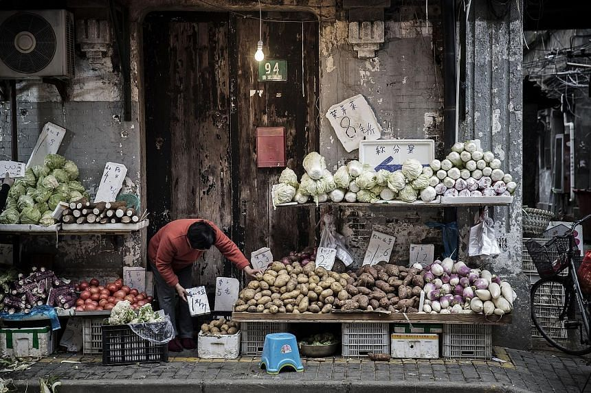 The November rise in China's consumer prices was driven by an uptick in food prices.