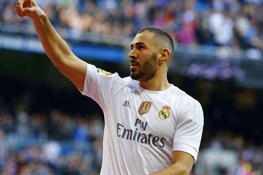 Real Madrid's French striker Karim Benzema