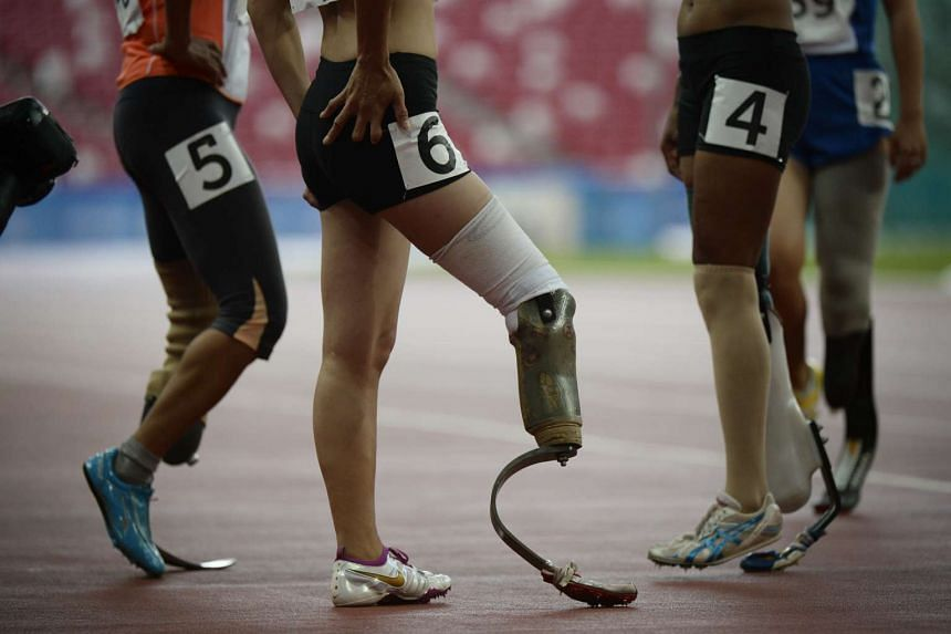 Runners before the Women's 200m final during the 8th Asean Para Games on Dec 4, 2015.