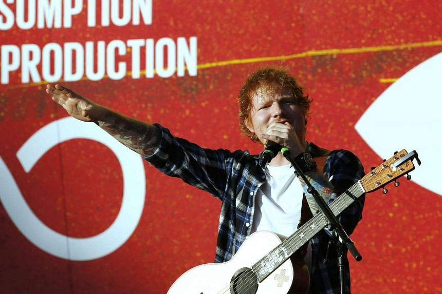 Ed Sheeran performing at the fourth annual Global Citizen Festival in Central Park in New York on Sept 25, 2015.