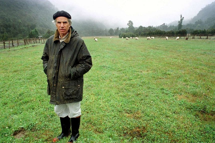 US millionaire conservationist Douglas Tompkins stands on his land in Chile in this January 2000 file photo.