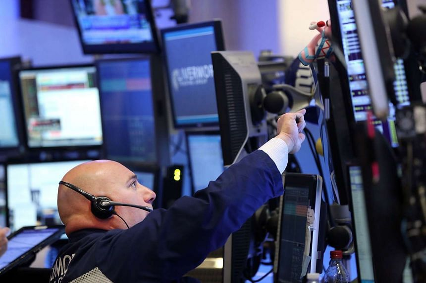 Traders working on the floor of the New York Stock Exchange on Nov 23.