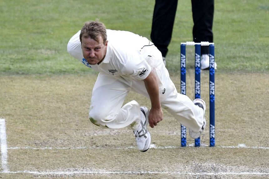 Neil Wagner of New Zealand bowls during day two of the first International Test cricket match between New Zealand and Sri Lanka.