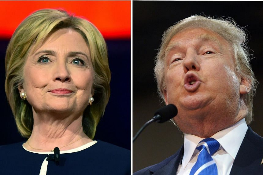Mrs Clinton (left) says Mr Trump has overstepped the mark with his call to ban Muslims from entering the US.