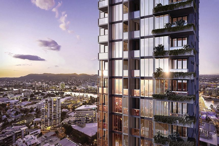 An artist's impression of the 472-unit residential project, which is located in the South Bank precinct in Brisbane.