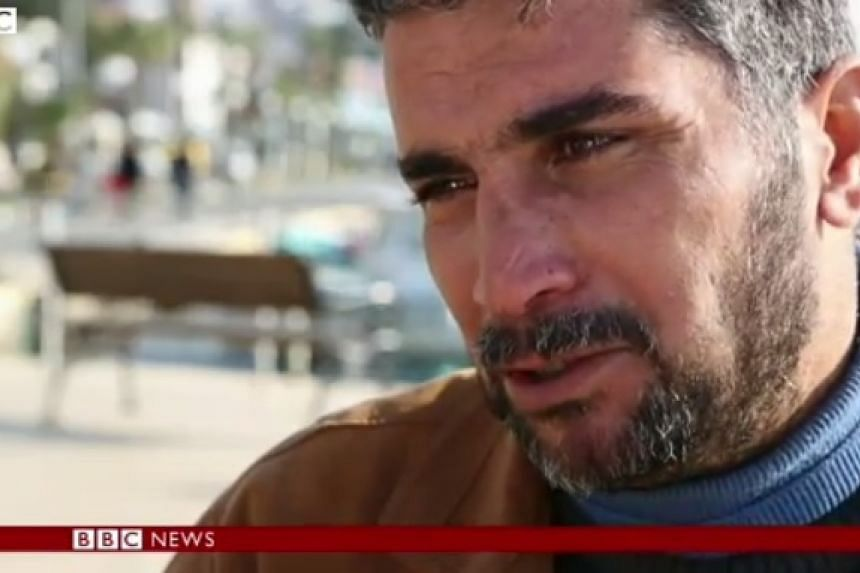 Ali Al Sahau warns other refugees not to attempt the crossing to Europe after losing his family.