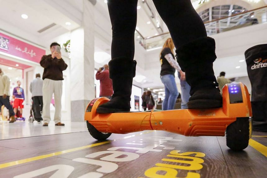 The self-balancing motorised boards are growing in popularity.