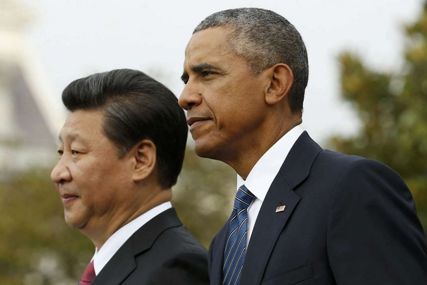 Xi (left) and Obama at the White House in September 2015.
