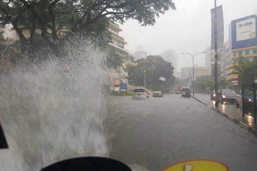 Flooding near Toa Payoh Central.