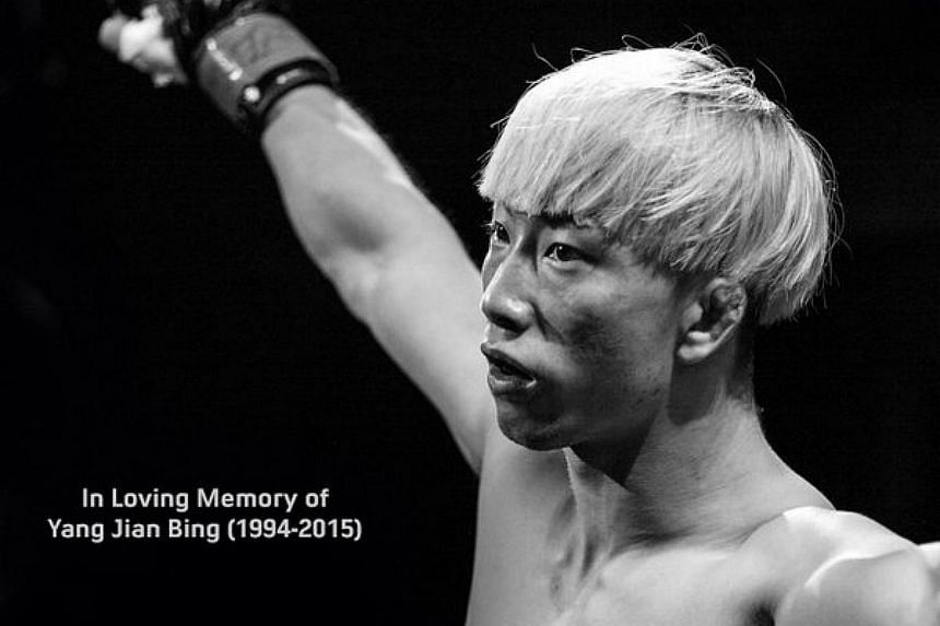 A tweet posted by the One Championship account on Dec 12 in memory of Chinese MMA exponent Yan Jian Bing.