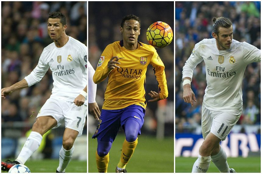 Manchester United are working on separate deals for (from left) Cristiano Ronaldo, Neymar and Gareth Bale.