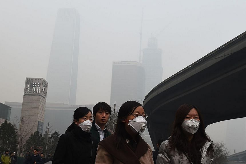"""The air quality in Beijing soared to """"hazardous"""" levels on Wednesday, and is set to return to such levels over the weekend."""