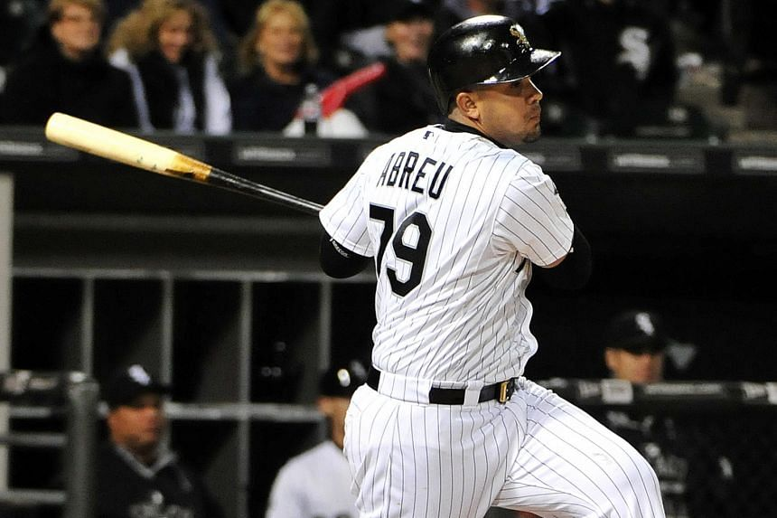 Cuban-born Chicago White Sox first baseman Jose Abreu - the 2014 Major League Baseball rookie of the year - left a son behind when he moved to the United States two years ago.