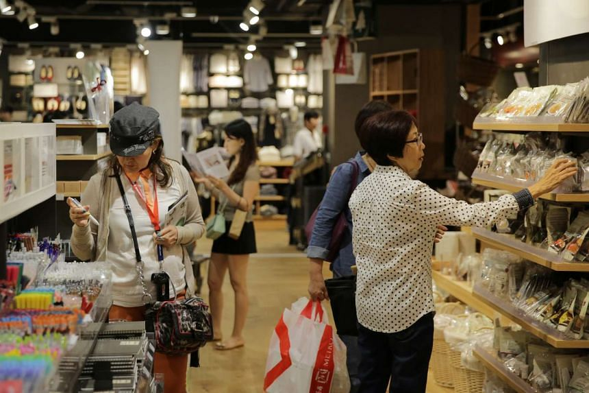 Retail sales in Singapore - excluding motor vehicles - slipped 1.4 per cent year-on-year in September, after rising in July and August. HSBC noted that consumers are spending less on discretionary items as well as cutting back on eating out.