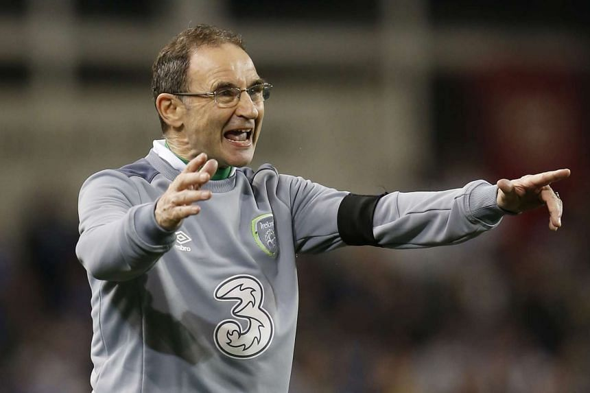 Republic of Ireland manager Martin O'Neill at the UEFA Euro 2016 Qualifying play-off second leg on Nov 16, 2015.