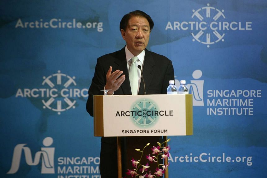 Deputy Prime Minister Teo Chee Hean at the opening session of the Arctic Forum at Marina Mandarin on Nov 12, 2015.