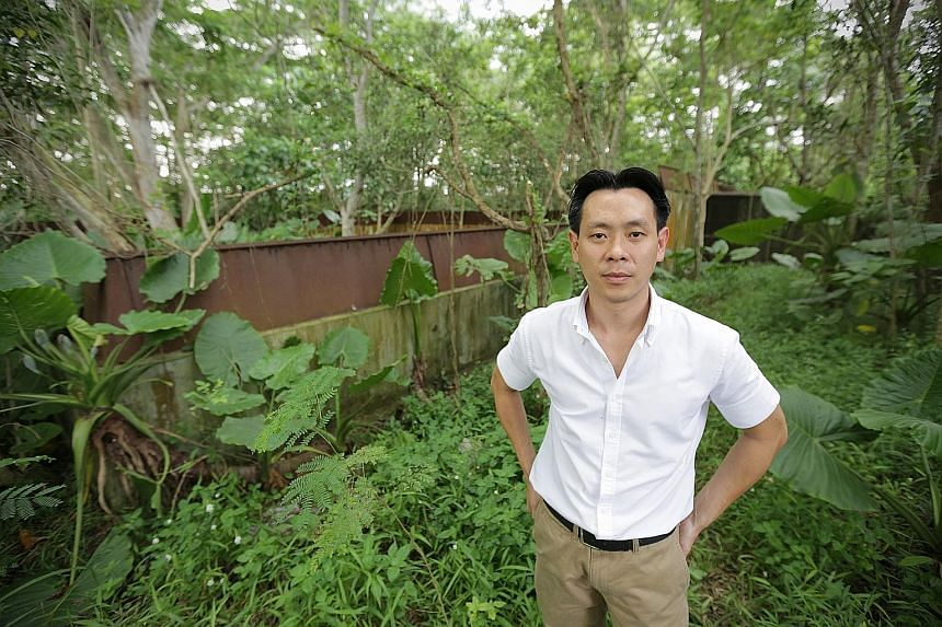 Acres executive director Louis Ng standing at the site in Jalan Lekar which was meant to be a sanctuary for endangered animals. A.N.A Contractor, which was hired to level the low-lying areas of land there, had instead filled it with contaminated eart