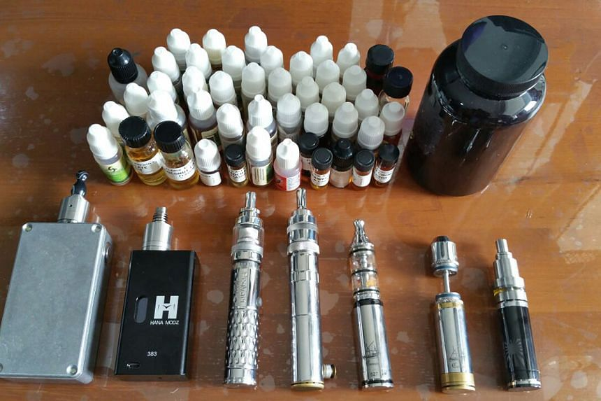 Several types of illegal e-cigarette products.
