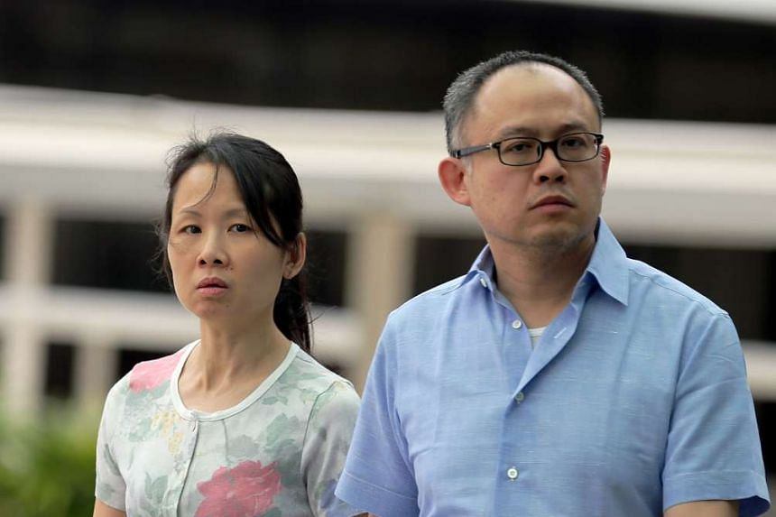 Lim Choon Hong (right) and Chong Sui Foon, who failed to provide their former domestic worker with adequate food.