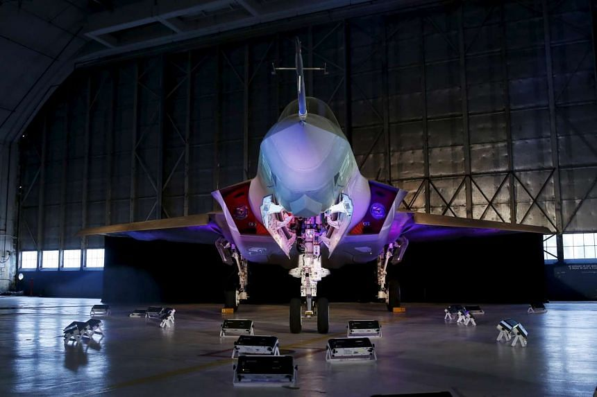 A Lockheed Marton F-35 Lightning II fighter jet in its hanger at Patuxent River Naval air in Maryland on Oct 28, 2015.