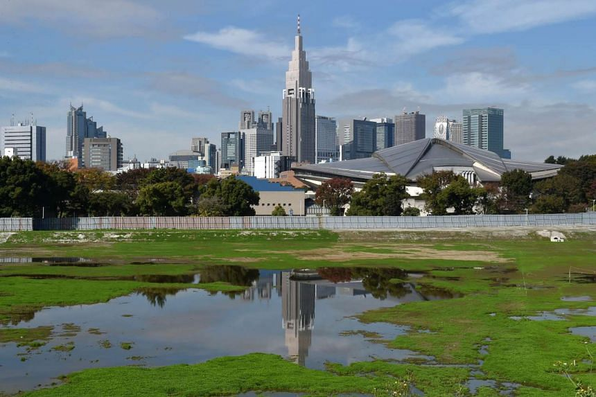 The planned construction site for the new national stadium for the Tokyo 2020 Olympic Games.