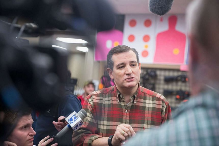 Republican presidential candidate Ted Cruz speaks to the press during a campaign event at CrossRoads Shooting Sports gun shop and range on Dec 4, 2015 in Johnston, Iowa.