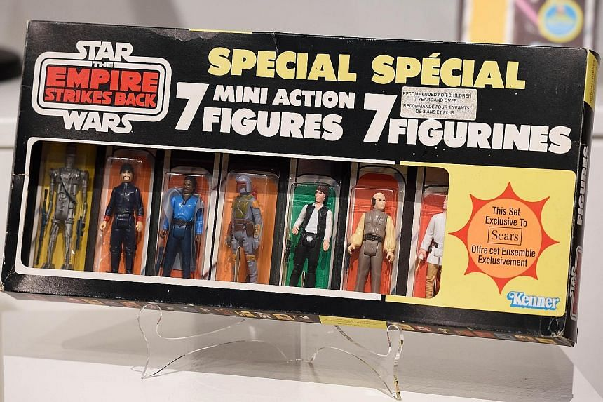 A Star Wars Empire Strikes Back seven-figure multi-pack which fetched US$32,500 (S$45,900) at auction.