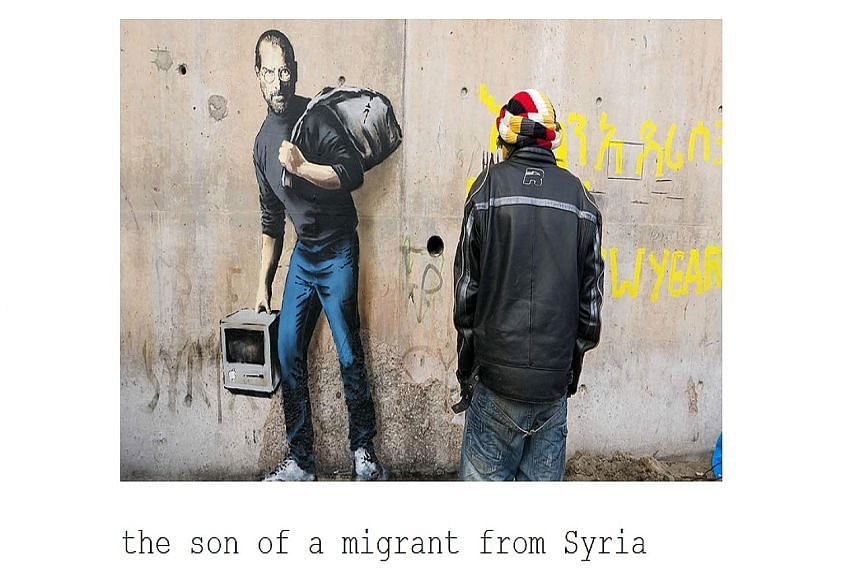 A picture of the Steve Jobs mural on Banksy's website.