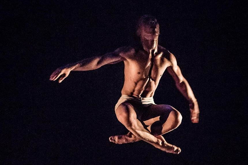 Moh Hariyanto's Ghulur has the choreographer- dancer slamming his body repeatedly on a sheet of corrugated zinc.