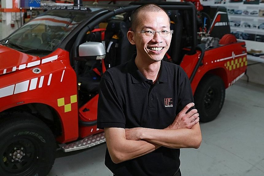 Mr Peter Ho gave up his job as a race car engineer and started Hope Technik with three others in 2006.