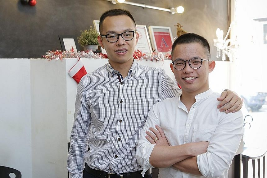 Chefs Joshua Khoo (left) and Dylan Ong, who trained at Shatec, opened Saveur four years ago with the aim of keeping prices low.