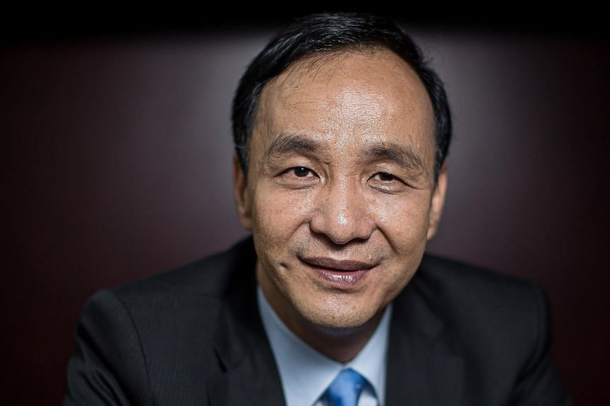 NOT YET THE RIGHT TIME: We can cooperate together, but that one's still very sensitive to our economy. - MR ERIC CHU, Taiwanese presidential hopeful, on the microchip designer industry being too important to open to greater influence from the mainlan