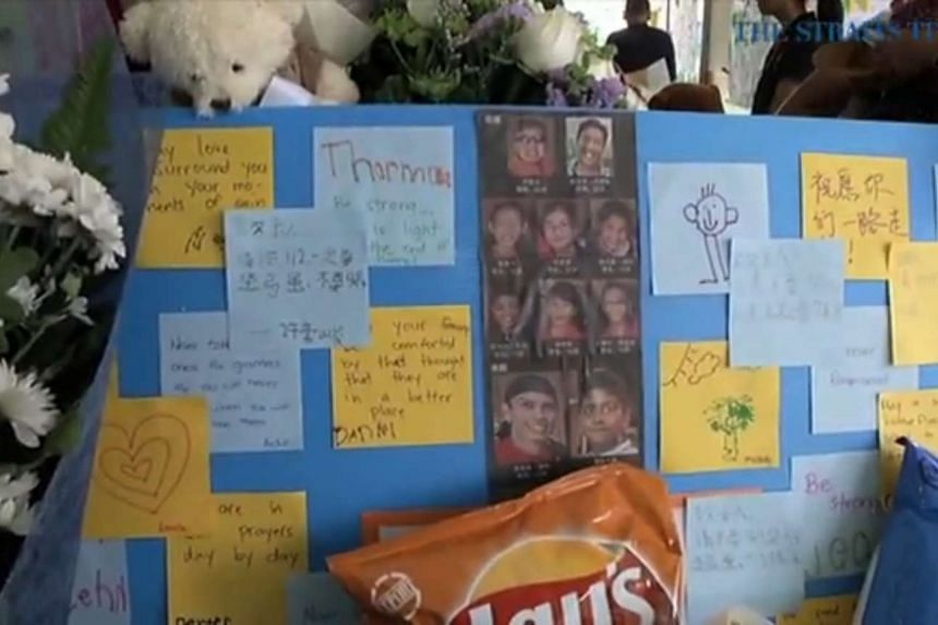 A screengrab showing a memorial for the students who perished in the Sabah quake in June 2015.