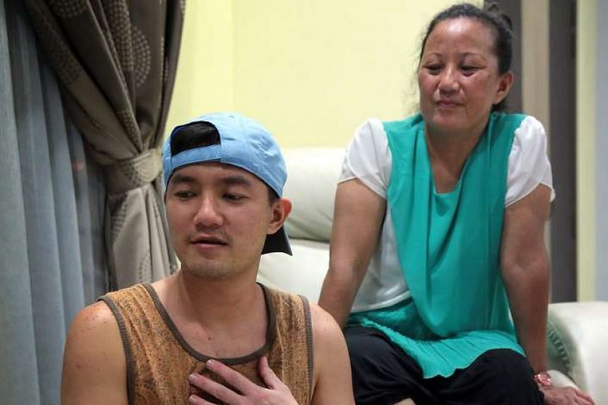Mr Sebastian Tan – head chef of Strangers' Reunion cafe, seen with his mother, Madam Lee Lai Fen – is undergoing treatment for cancer.