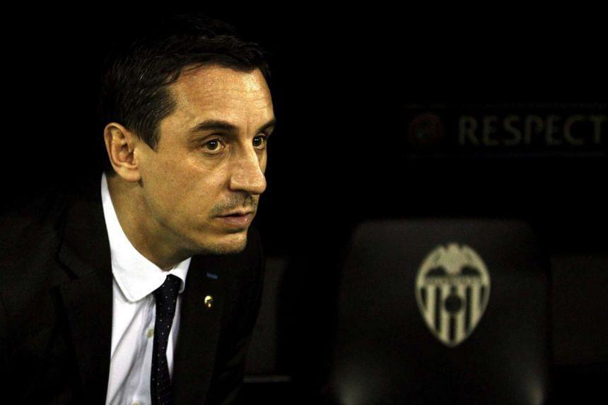 Valencia coach Gary Neville.