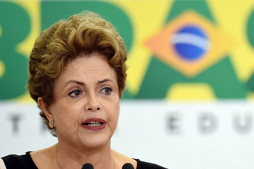 Brazilian President Dilma Rousseff speaking at the Human Rights Award ceremony in Brasilia on Dec 11.