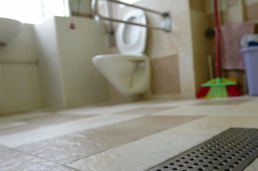 The bathroom can be a high-danger zone for the elderly. About one-third of elderly rehabilitation patients at Tan Tock Seng Hospital have fallen in the bathroom, says an occupational therapist there.