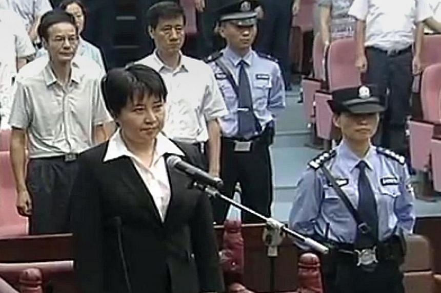 "Gu Kailai, the wife of former Chongqing party boss Bo Xilai, was given a suspended death sentence on Aug 20, 2012 for murdering a British businessman. Beijing's high court said on its website yesterday that she had ""certainly shown repentance"", makin"