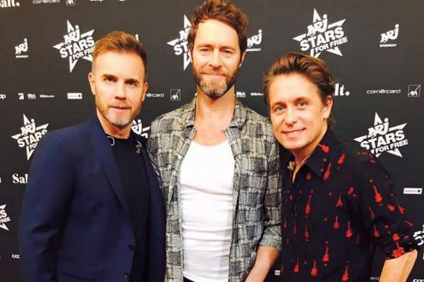 British three-man pop band Take That will host a concert at the Sentosa Golf Club on Mar 5, 2016.