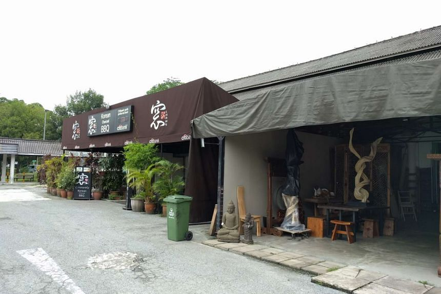 Block 18 at Dempsey Road, which has Korean barbecue restaurant Chang and antique store Shang.