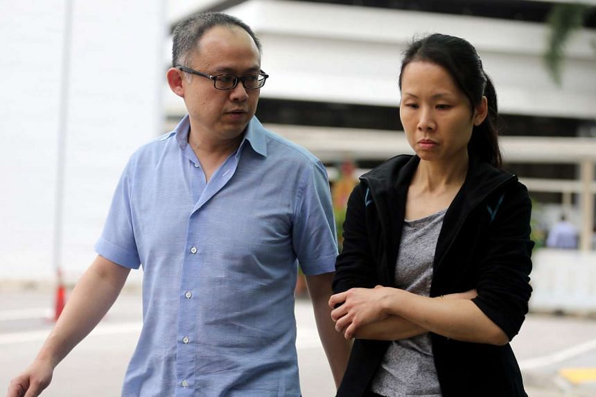 Lim Choon Hong (left) and Chong Sui Foon face charges for failing to provide their former Filipino domestic worker with adequate food.