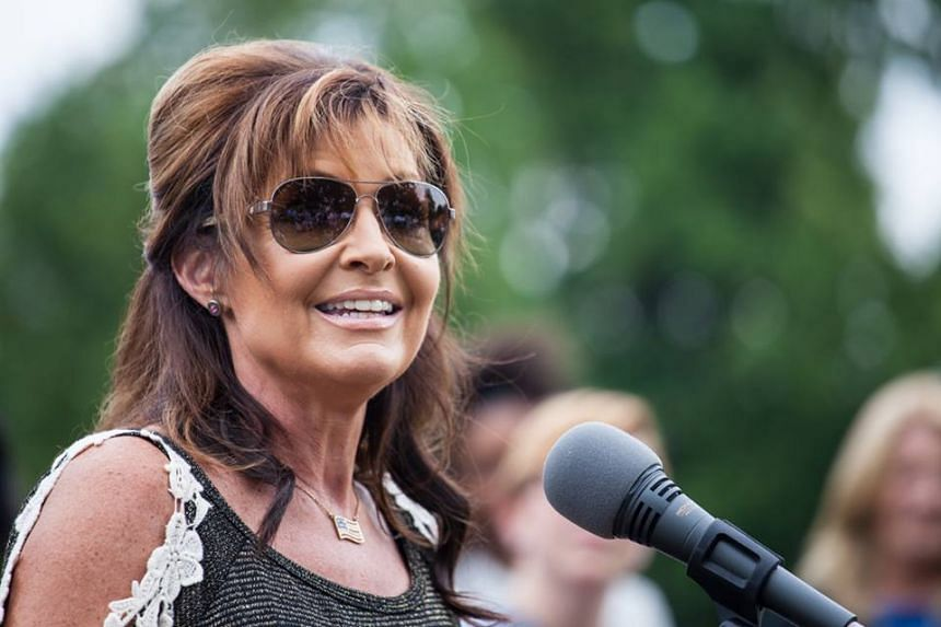 Sarah Palin speaks at a protest against Planned Parenthood in Washington, DC.